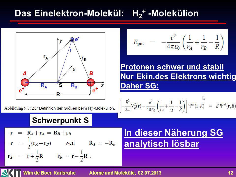 Das Einelektron-Molekül: H2+ -Molekülion