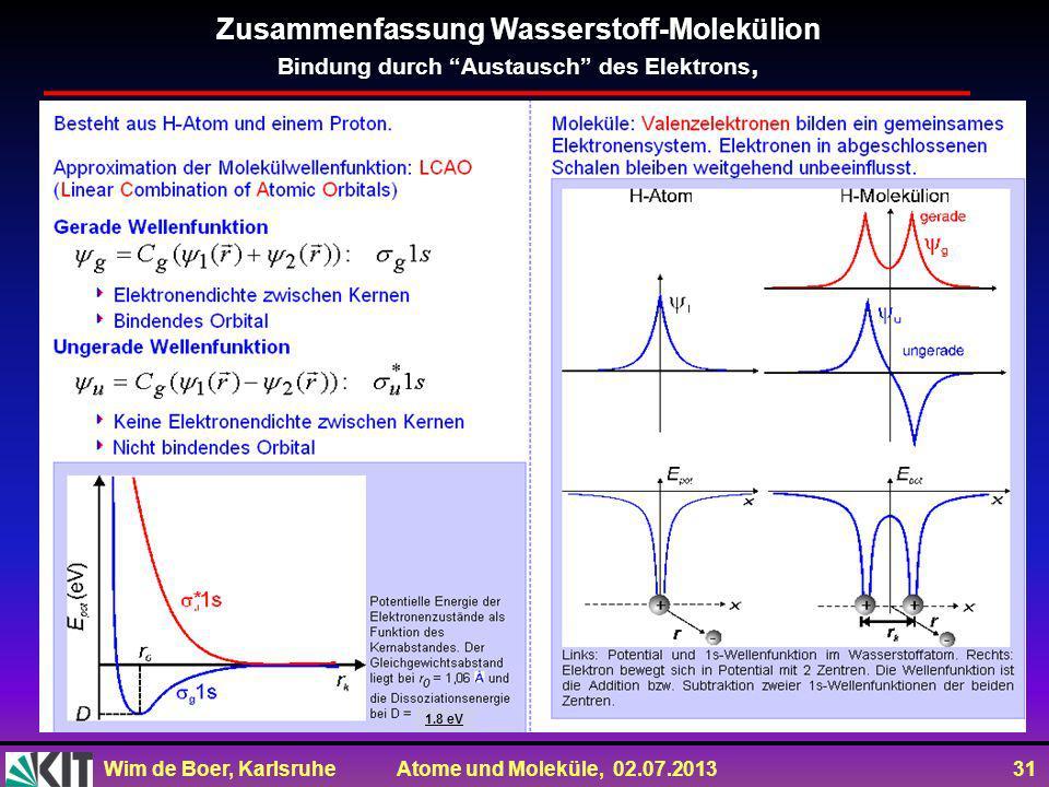 Zusammenfassung Wasserstoff-Molekülion