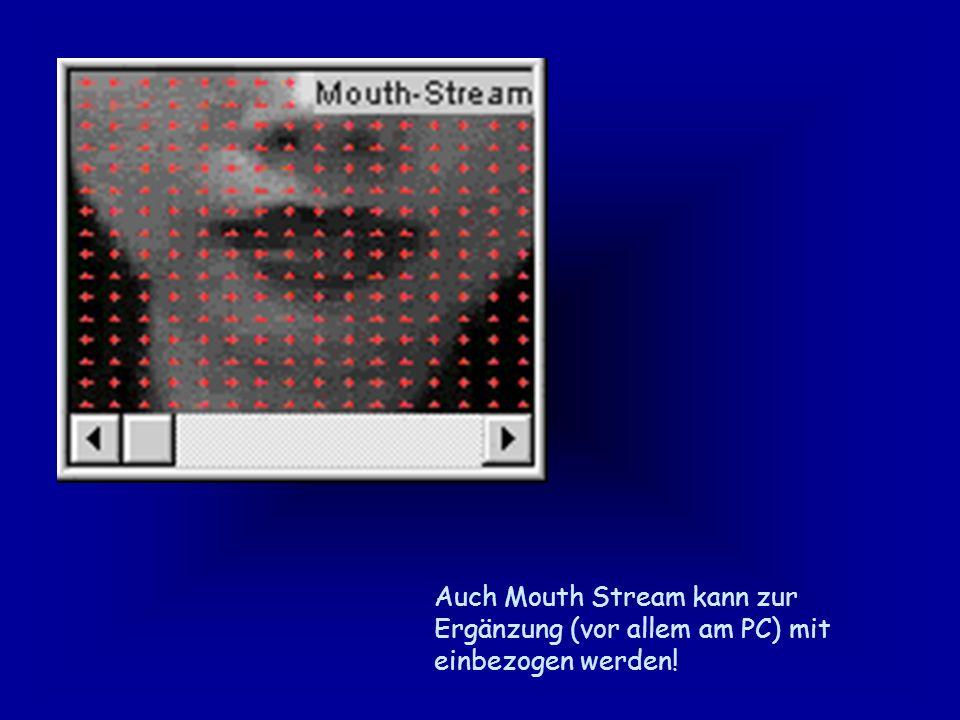 Auch Mouth Stream kann zur Ergänzung (vor allem am PC) mit einbezogen werden!