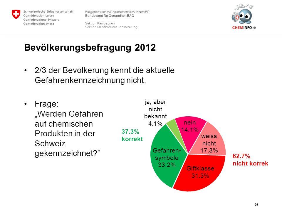 Bevölkerungsbefragung 2012