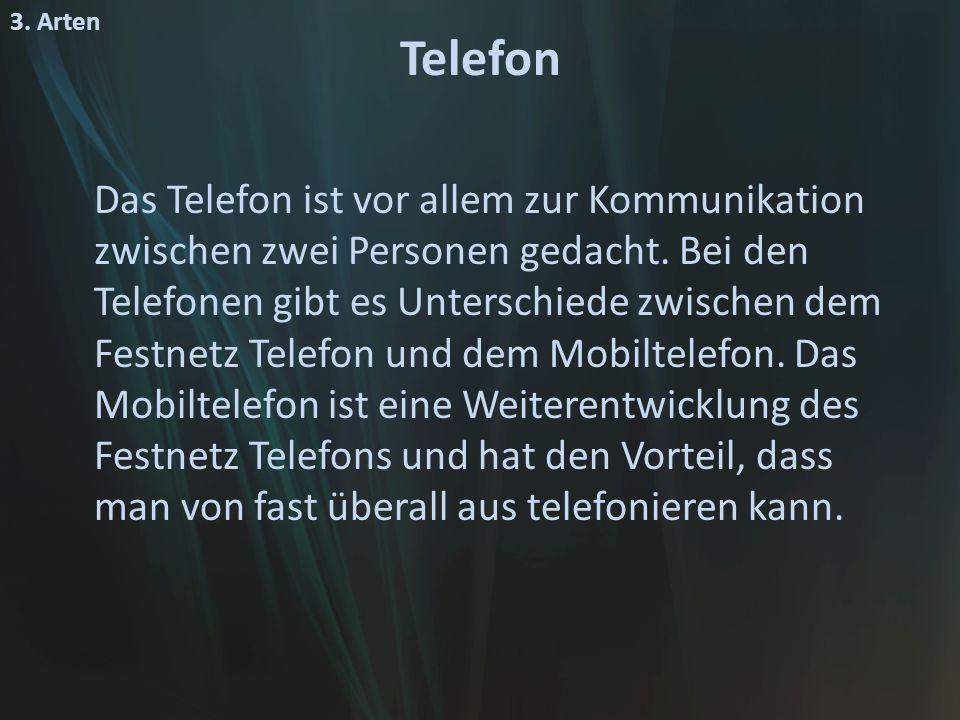 3. Arten Telefon.