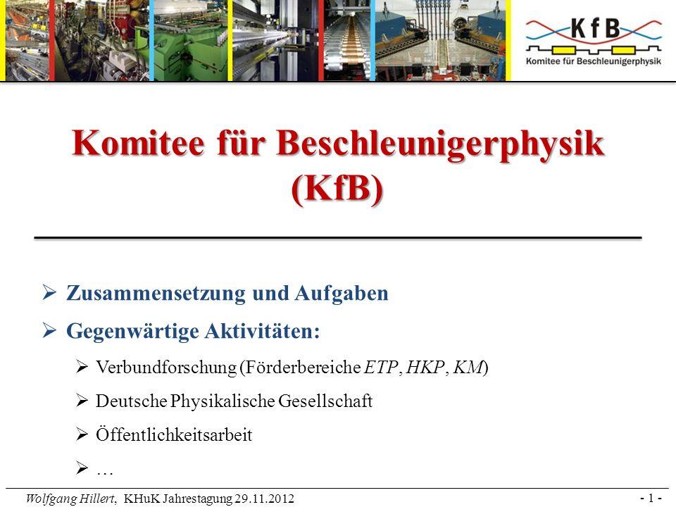 Komitee für Beschleunigerphysik (KfB)