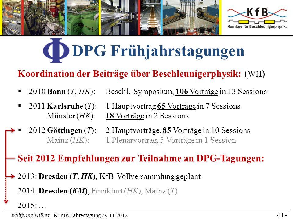 DPG Frühjahrstagungen