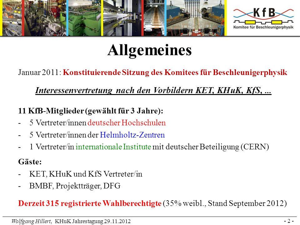Interessenvertretung nach den Vorbildern KET, KHuK, KfS, ...
