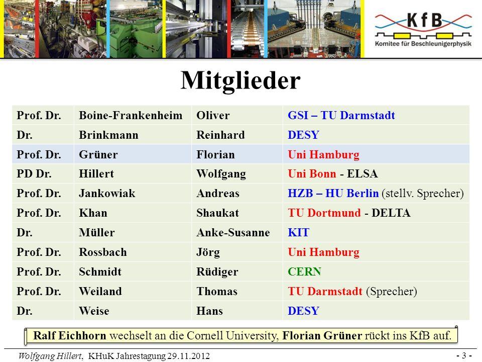 Mitglieder Prof. Dr. Boine-Frankenheim Oliver GSI – TU Darmstadt Dr.