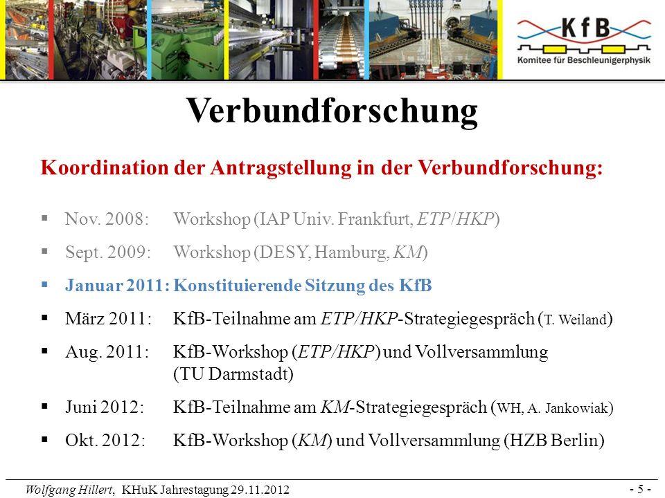 Verbundforschung Koordination der Antragstellung in der Verbundforschung: Nov. 2008: Workshop (IAP Univ. Frankfurt, ETP/HKP)