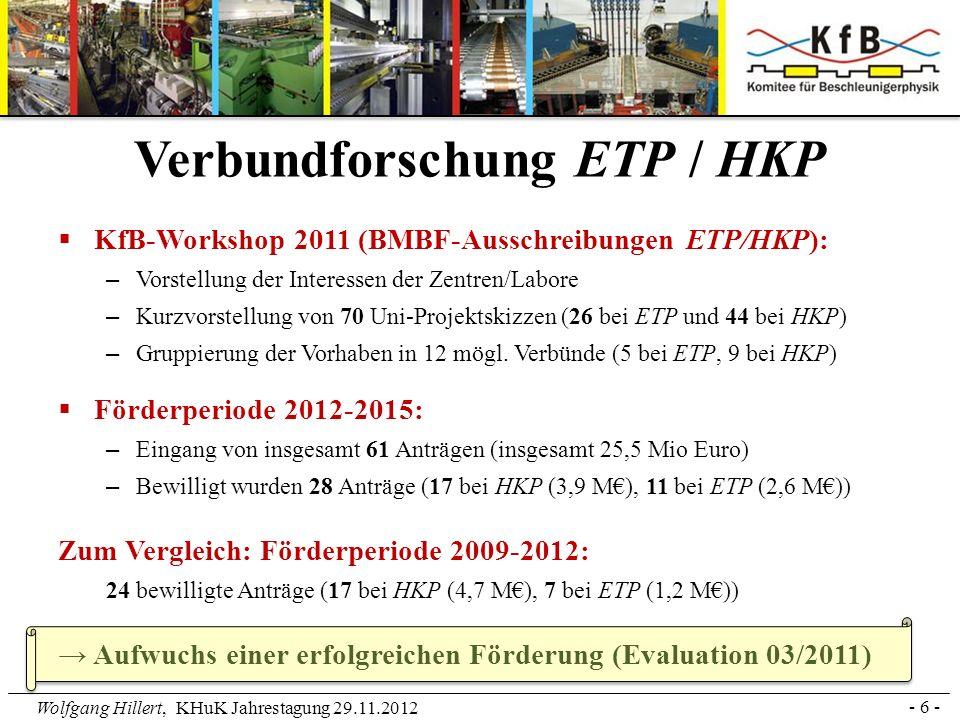 Verbundforschung ETP / HKP