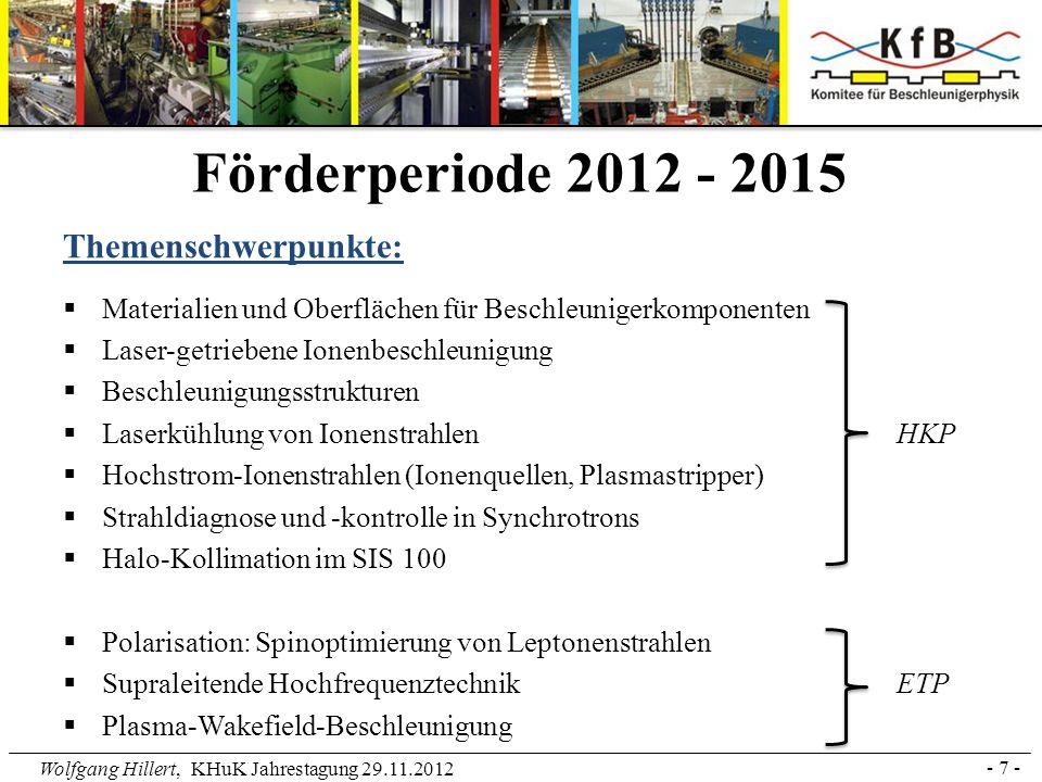 Förderperiode 2012 - 2015 Themenschwerpunkte: