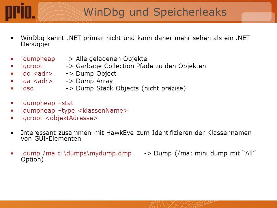 WinDbg und Speicherleaks