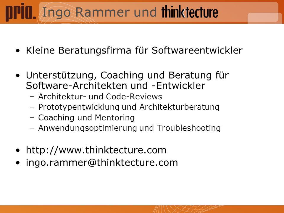 Ingo Rammer und Kleine Beratungsfirma für Softwareentwickler