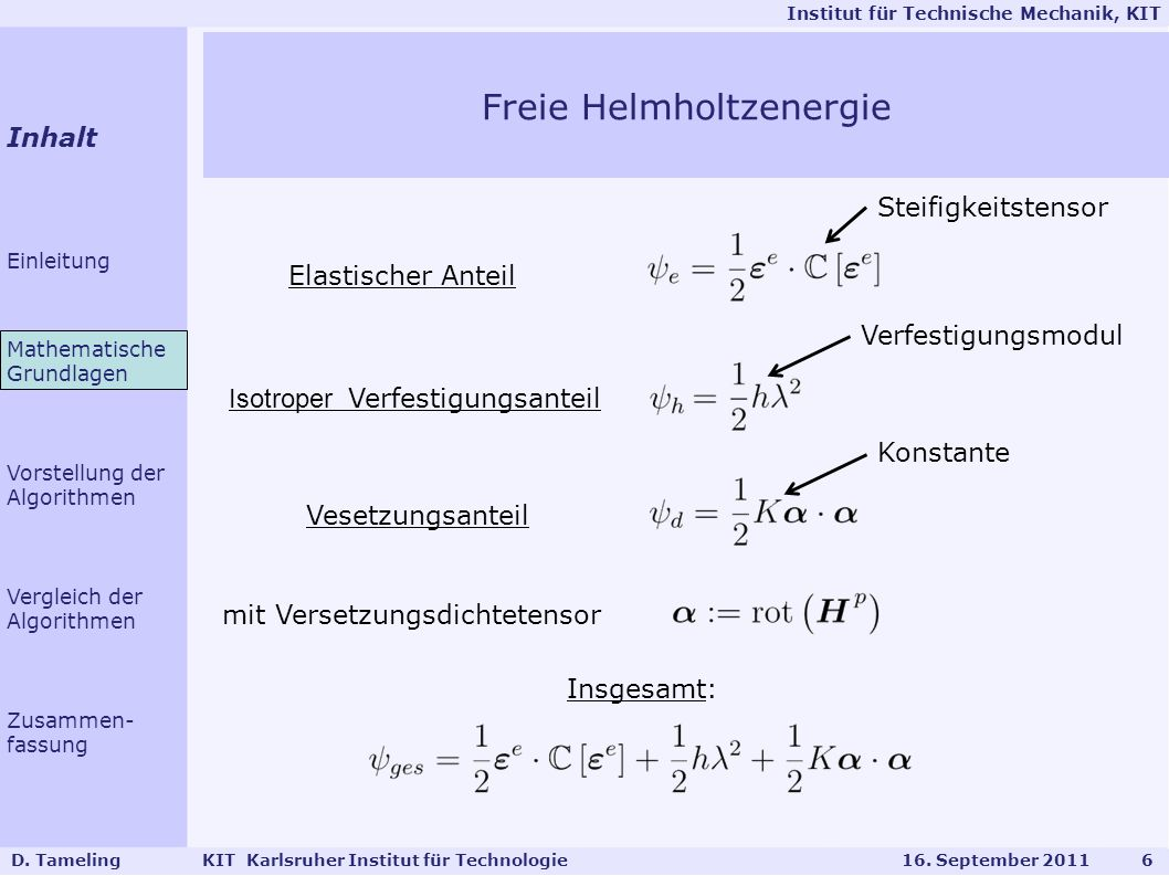 Freie Helmholtzenergie
