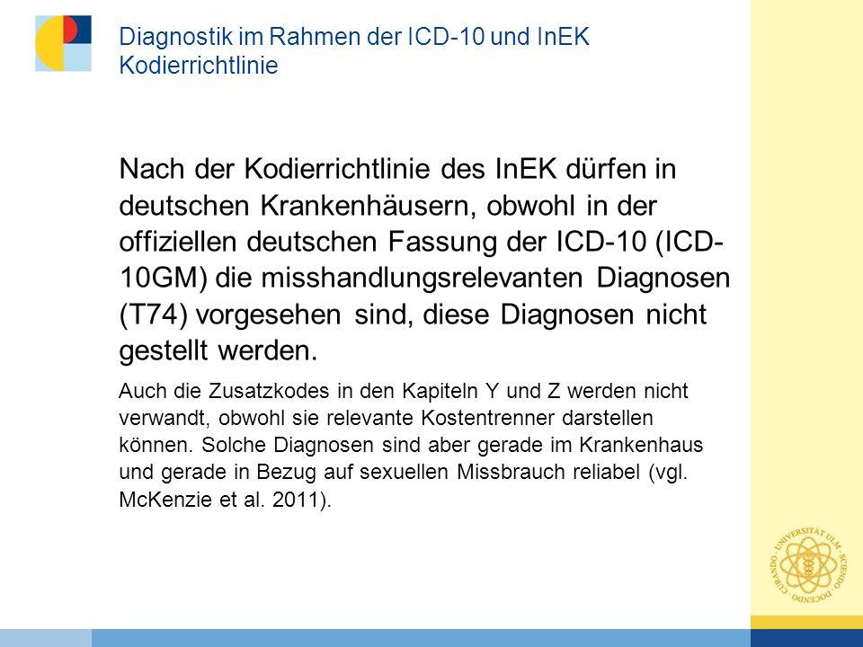Diagnostik im Rahmen der ICD-10 und InEK Kodierrichtlinie