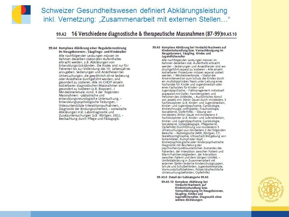 Schweizer Gesundheitswesen definiert Abklärungsleistung