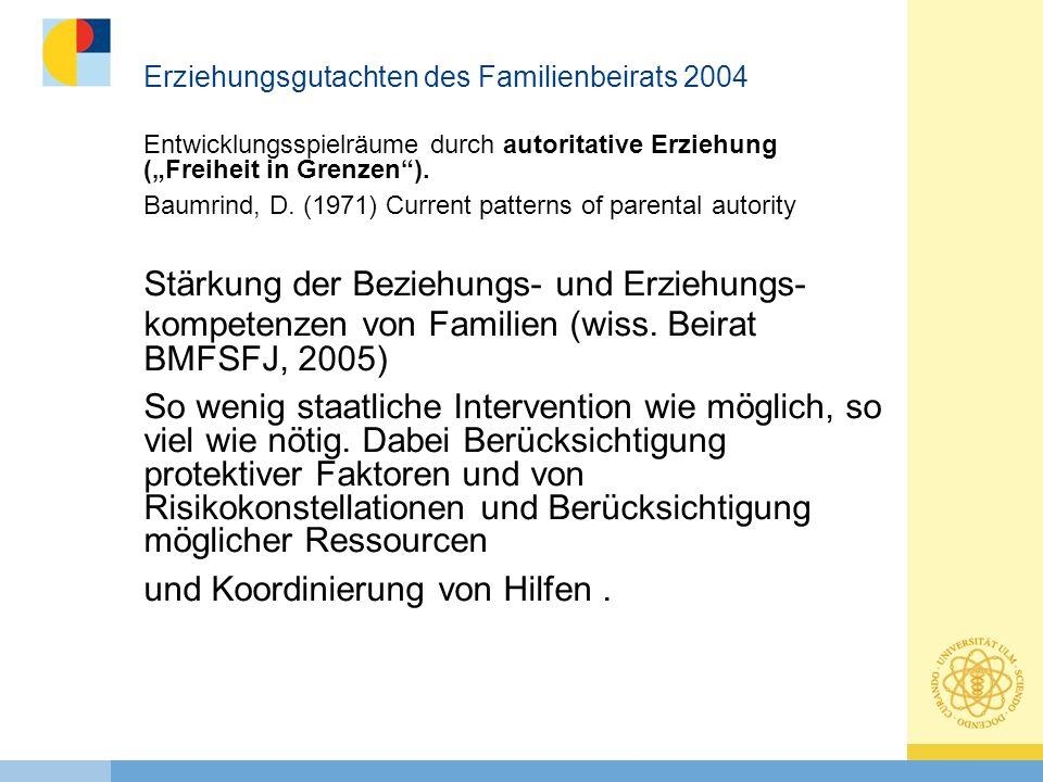 Erziehungsgutachten des Familienbeirats 2004