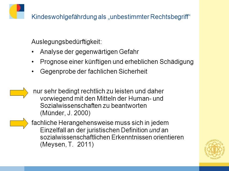 """Kindeswohlgefährdung als """"unbestimmter Rechtsbegriff"""