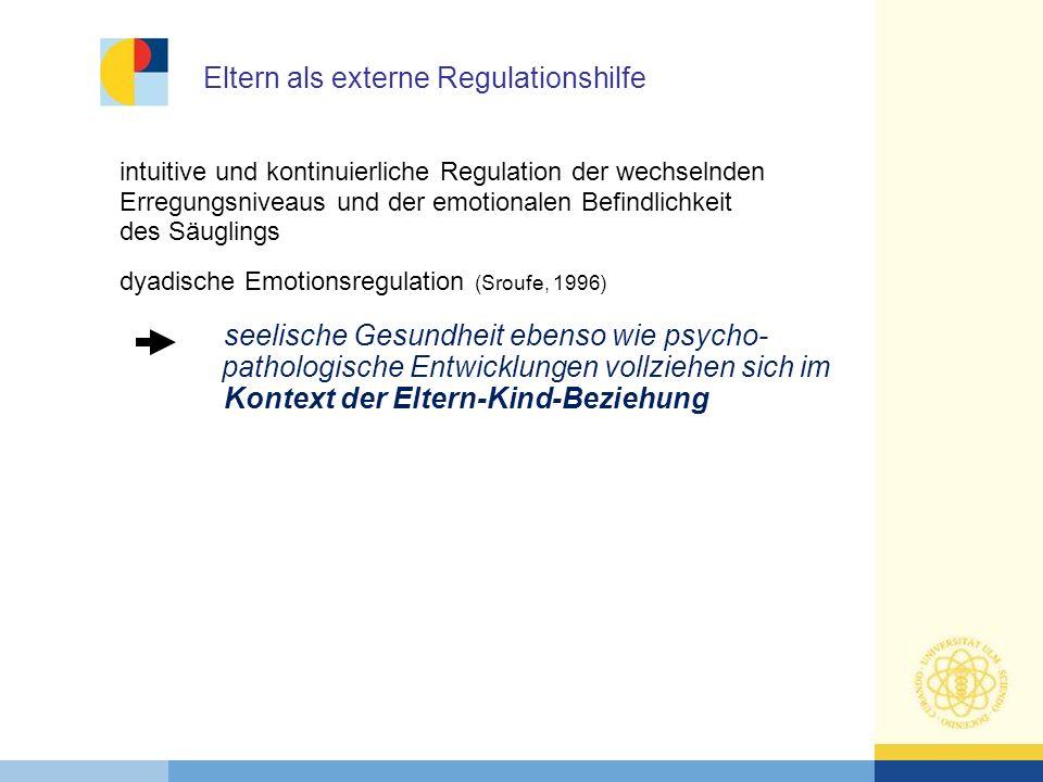 Eltern als externe Regulationshilfe