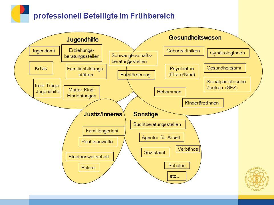 professionell Beteiligte im Frühbereich