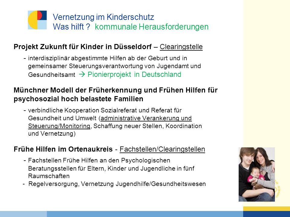 Vernetzung im Kinderschutz Was hilft kommunale Herausforderungen