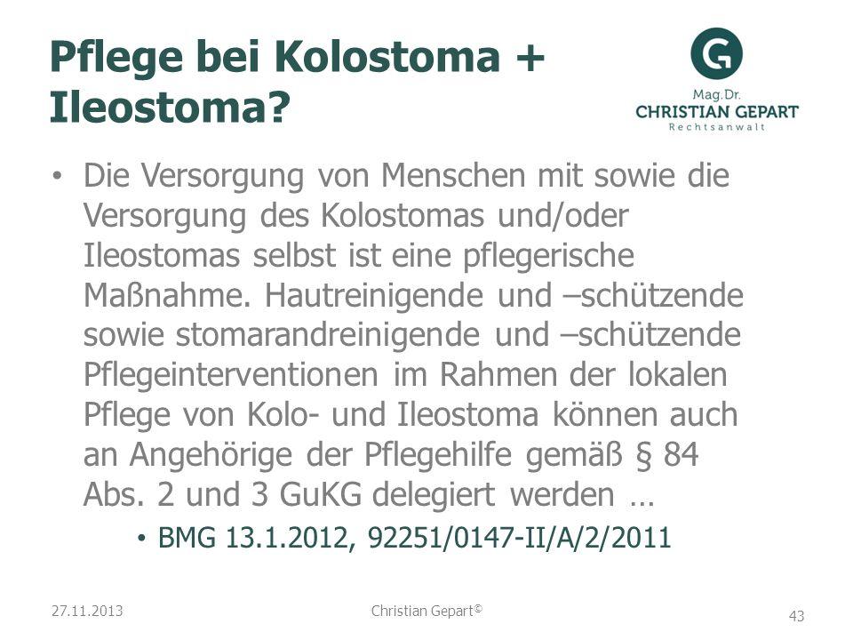Pflege bei Kolostoma + Ileostoma