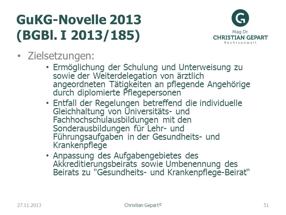 GuKG-Novelle 2013 (BGBl. I 2013/185)