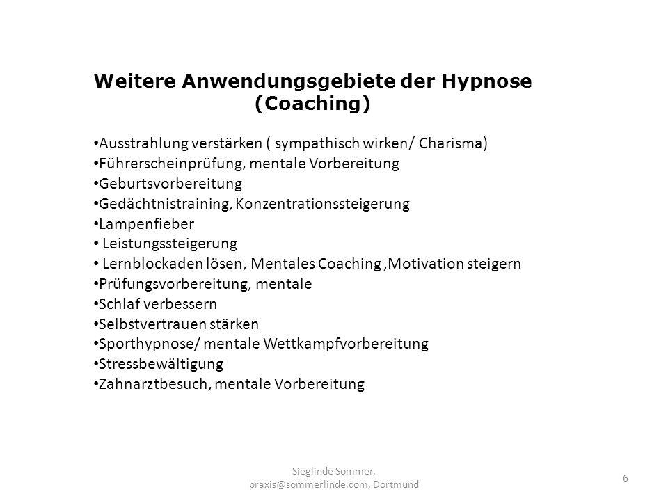 Weitere Anwendungsgebiete der Hypnose (Coaching)
