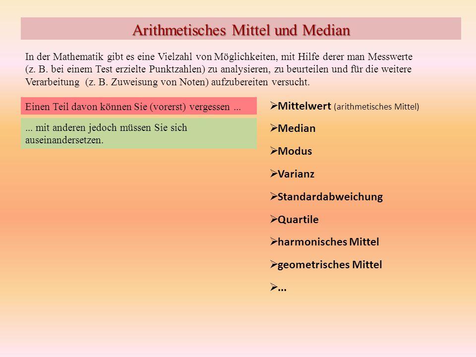 Arithmetisches Mittel und Median