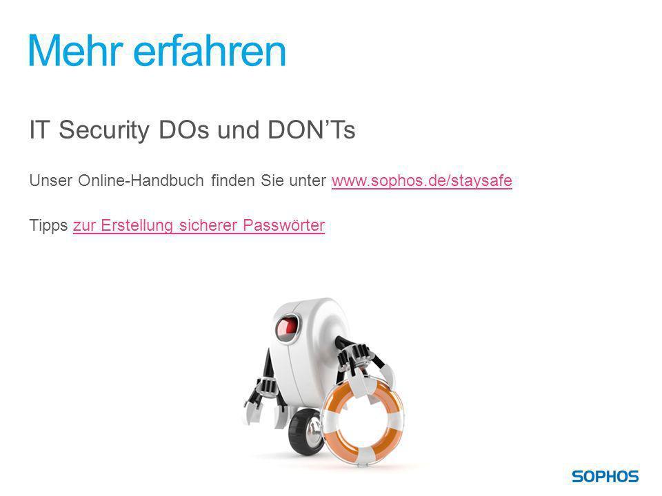 Mehr erfahren IT Security DOs und DON'Ts