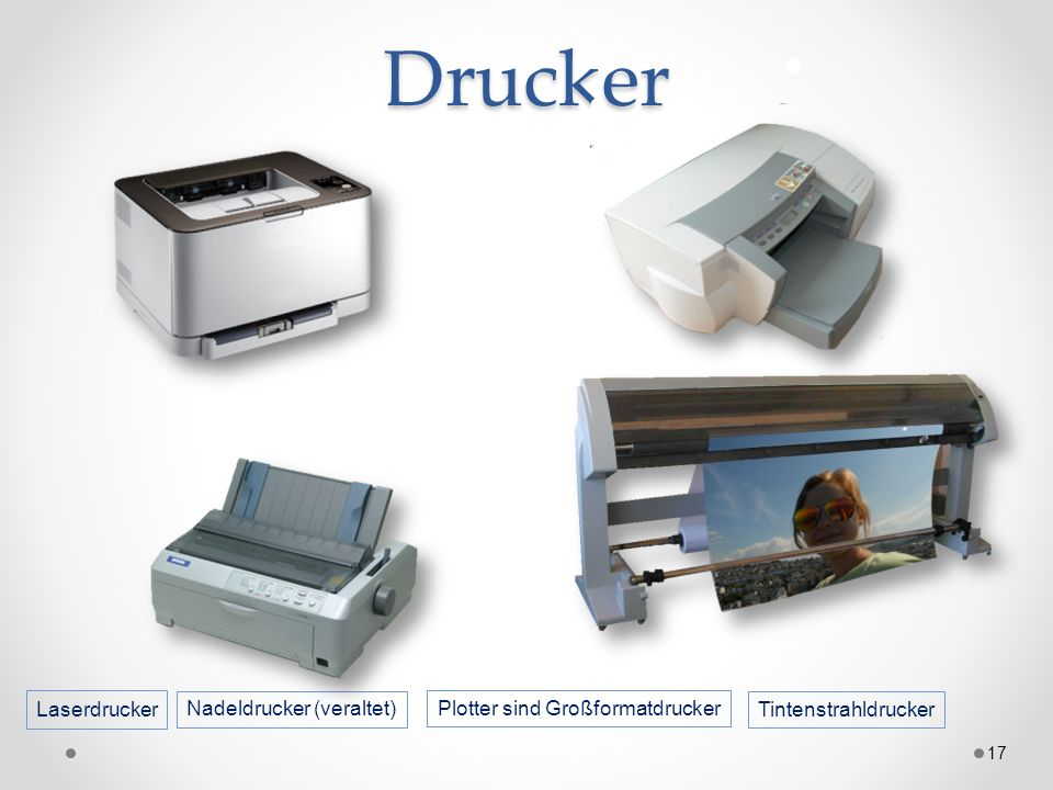 Drucker Laserdrucker Nadeldrucker (veraltet)
