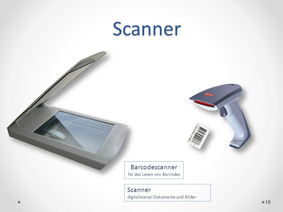 Barcodescanner für das Lesen von Barcodes
