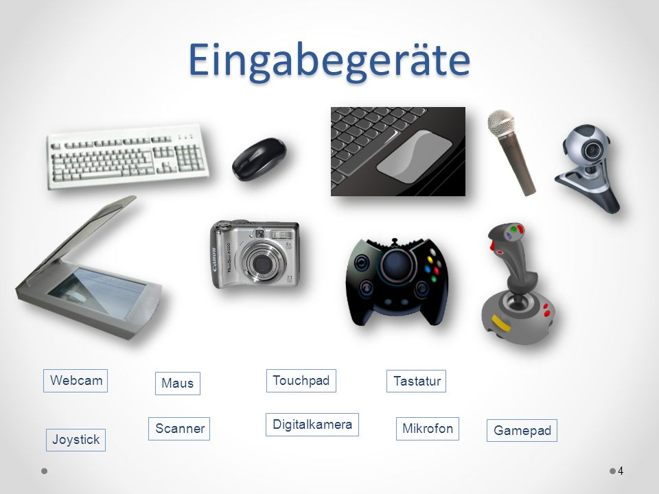 Eingabegeräte Webcam Maus Touchpad Tastatur Digitalkamera Scanner