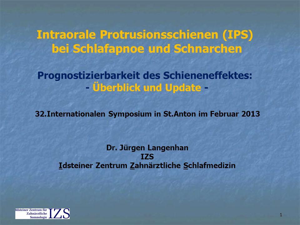 Intraorale Protrusionsschienen (IPS) bei Schlafapnoe und Schnarchen