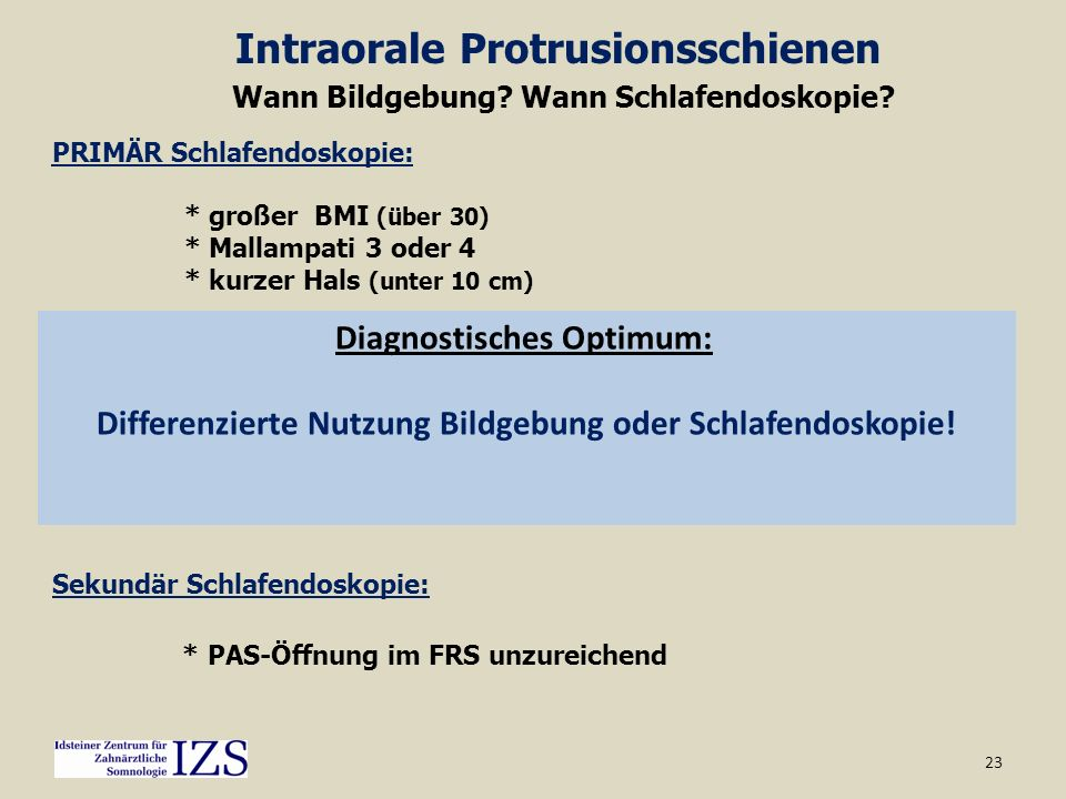 Intraorale Protrusionsschienen