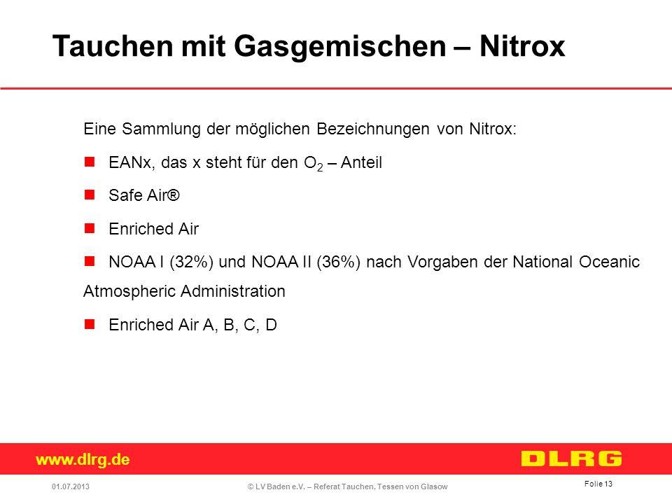 Tauchen mit Gasgemischen – Nitrox