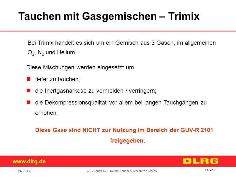 Tauchen mit Gasgemischen – Trimix