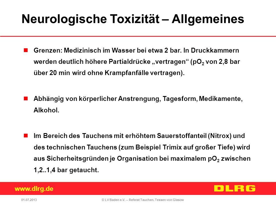 Neurologische Toxizität – Allgemeines
