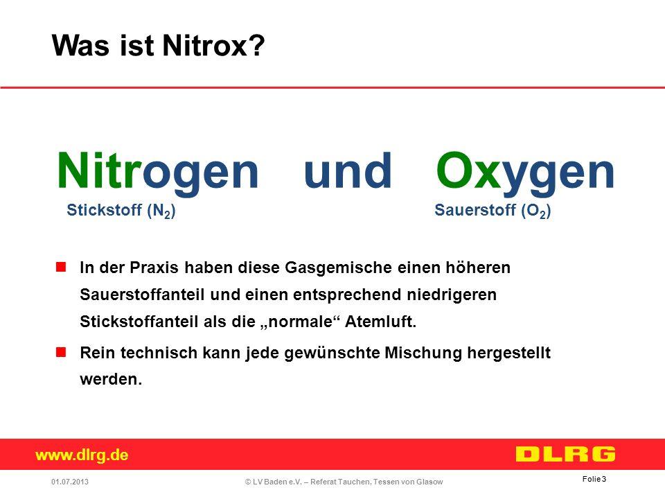 Nitrogen und Oxygen Was ist Nitrox Stickstoff (N2) Sauerstoff (O2)