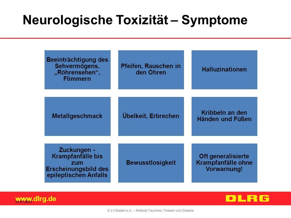 Neurologische Toxizität – Symptome