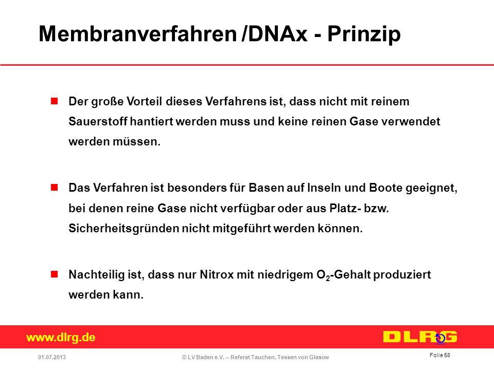 Membranverfahren /DNAx - Prinzip