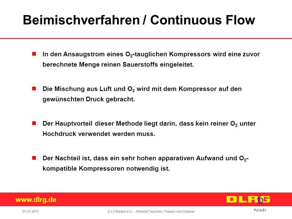Beimischverfahren / Continuous Flow