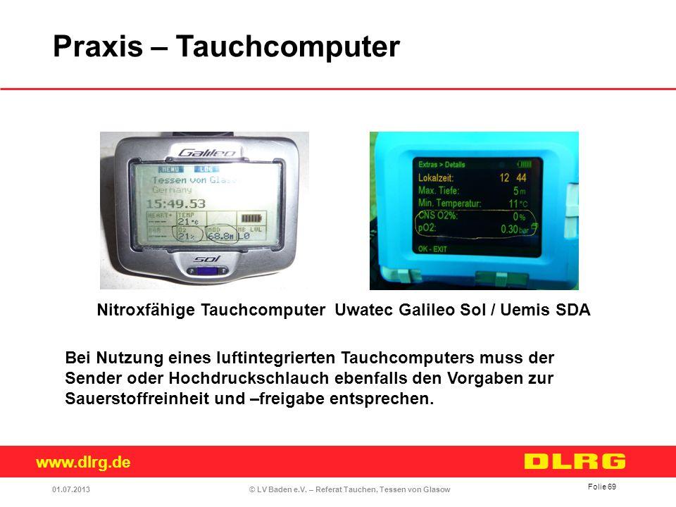 Praxis – Tauchcomputer