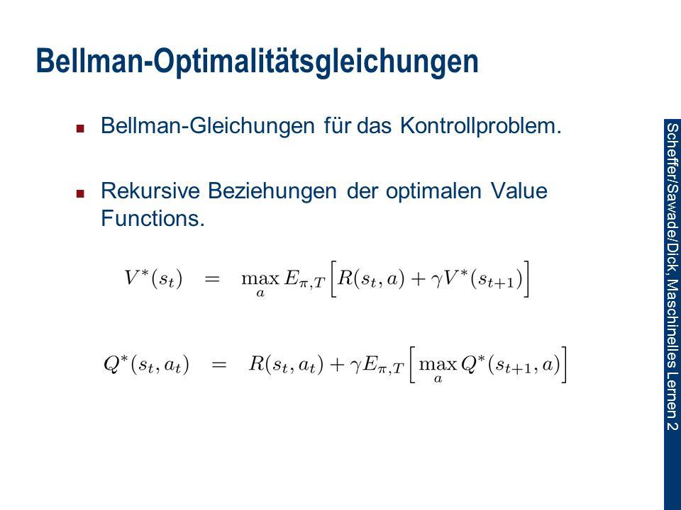 Bellman-Optimalitätsgleichungen