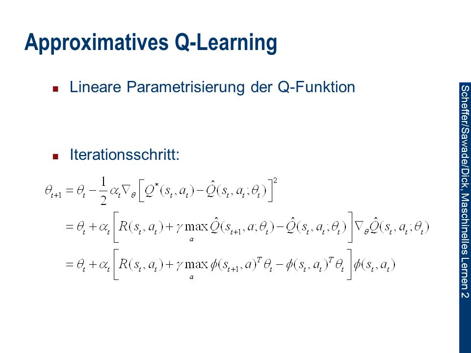 Approximatives Q-Learning