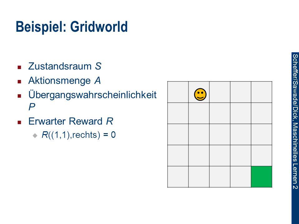 Beispiel: Gridworld Zustandsraum S Aktionsmenge A