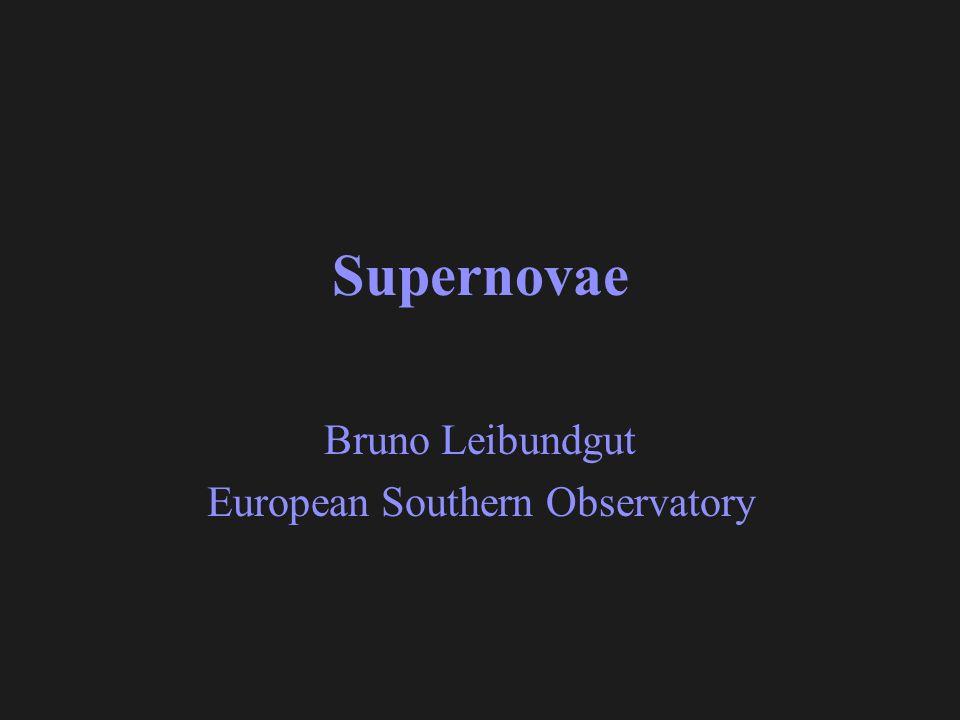 Bruno Leibundgut European Southern Observatory