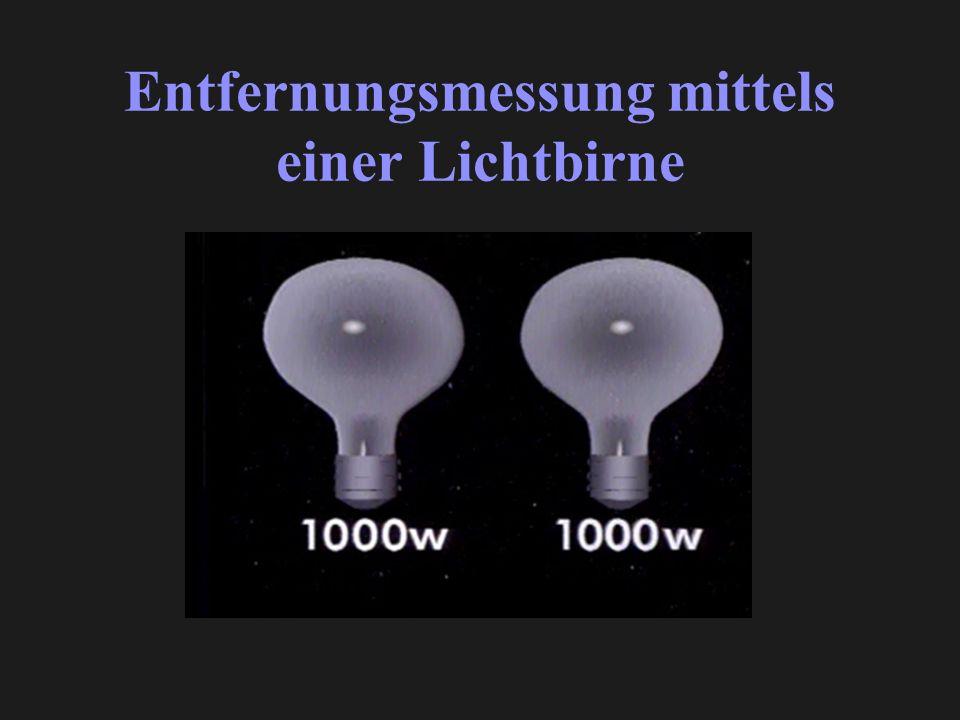 Entfernungsmessung mittels einer Lichtbirne