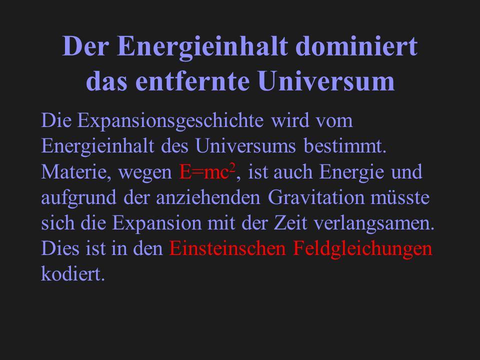 Der Energieinhalt dominiert das entfernte Universum