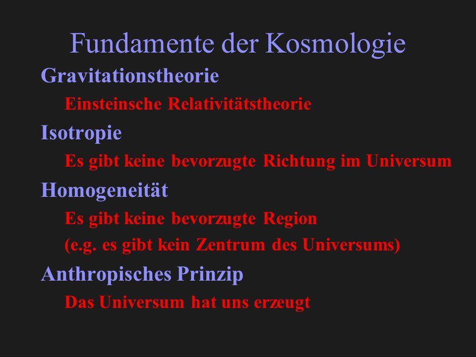 Fundamente der Kosmologie
