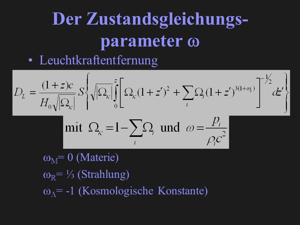 Der Zustandsgleichungs- parameter 
