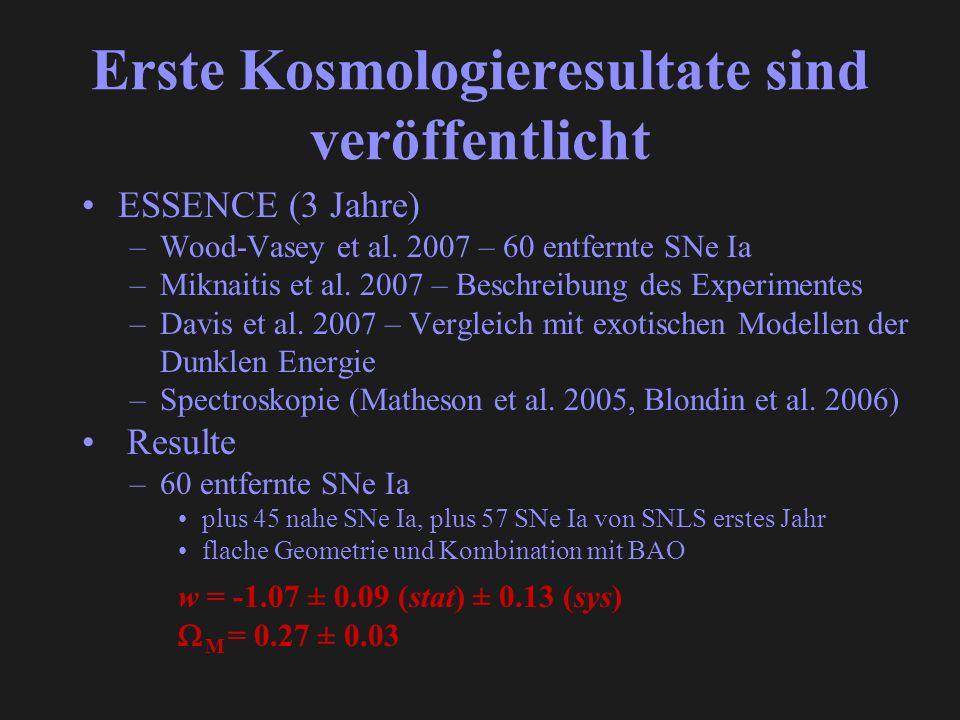 Erste Kosmologieresultate sind veröffentlicht