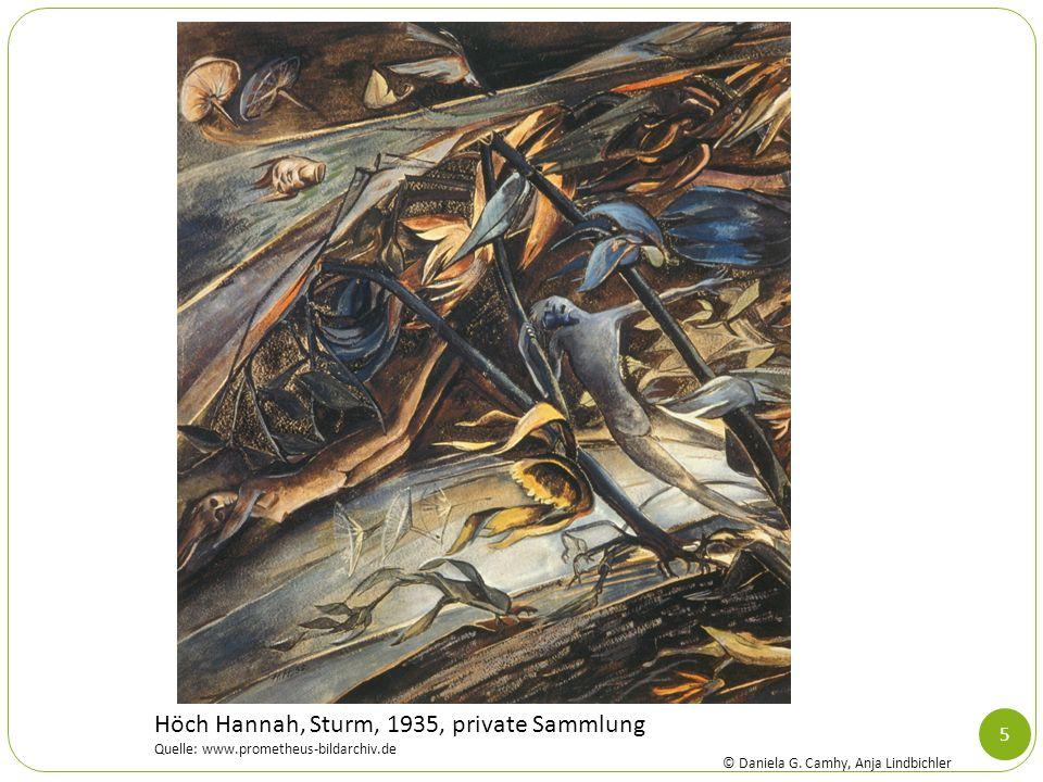 Höch Hannah, Sturm, 1935, private Sammlung